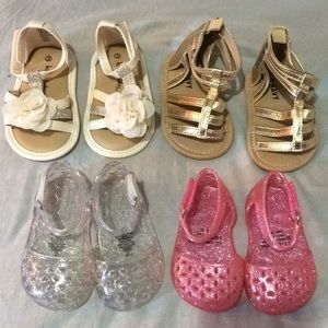 Other - 4 Sets of Infant Sandals ((Excellent Condition))